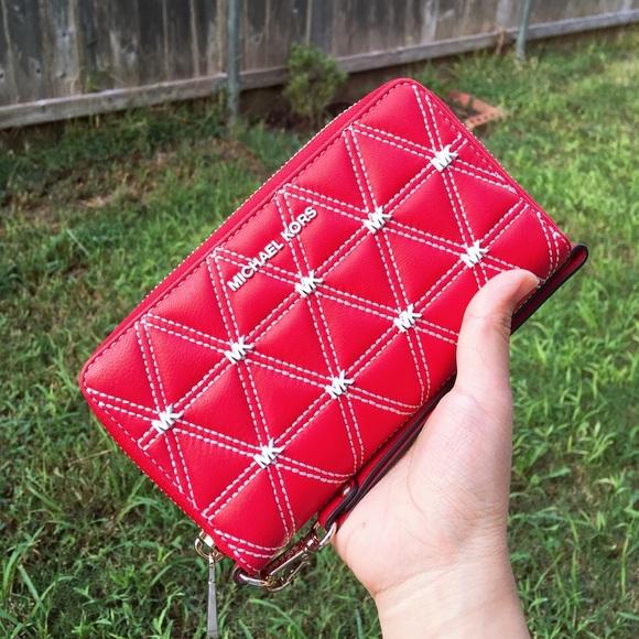 MICHAEL Michael Kors Handbags - Micheal Kors Flat Phone Wristlet Wallet